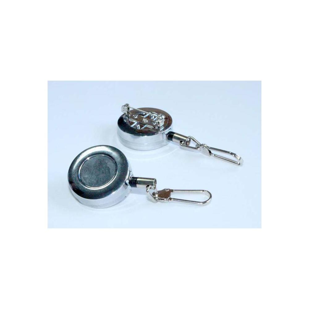 Pin Retactil, piola acero